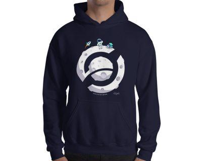 Horizen Moon Landing Sweatshirt Hoodie – Navy