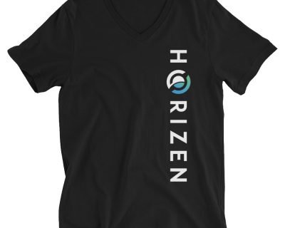 Horizen Dynamic Vertical V-Neck Unisex T-Shirt Black