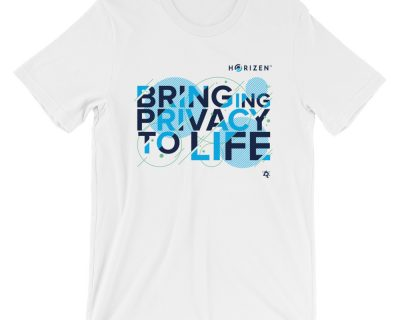 "Horizen ""Bringing Privacy to Life"" Short-Sleeve Unisex T-Shirt – 2 Colors"